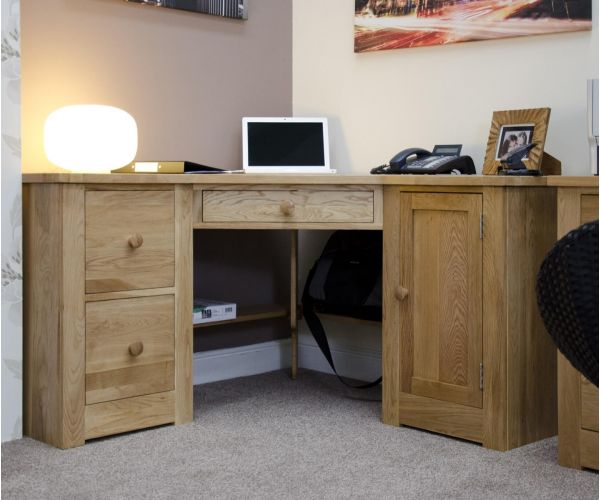 Homestyle GB Torino Oak Corner Computer Desk
