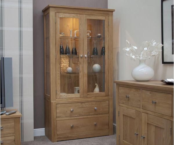 Homestyle GB Torino Oak Glass Display Unit