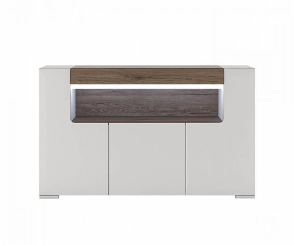 FTG Toronto 3 Door Sideboard with Open Shelving