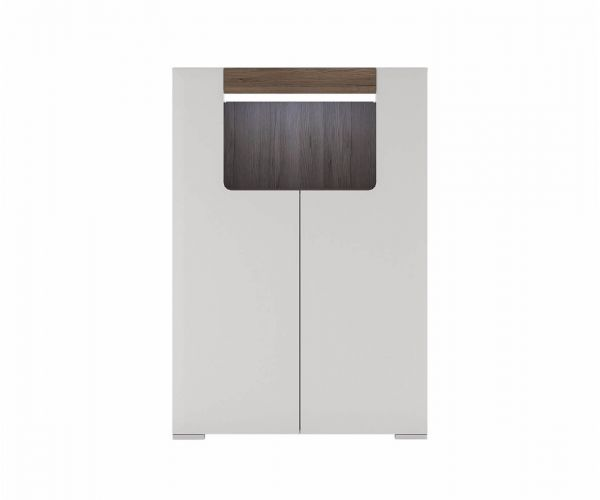 FTG Toronto Low 2 Door Cabinet with Open Shelf