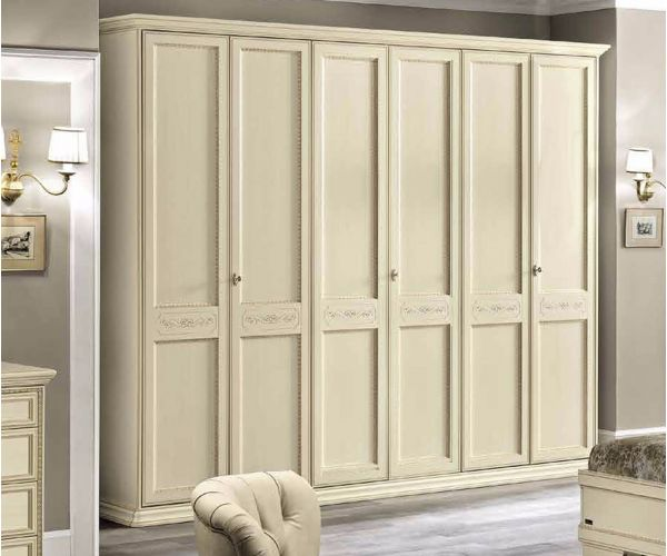 Camel Group Torriani Ivory Finish 6 Door Wardrobe