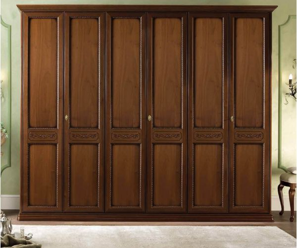 Camel Group Torriani Walnut Finish 6 Door Wardrobe
