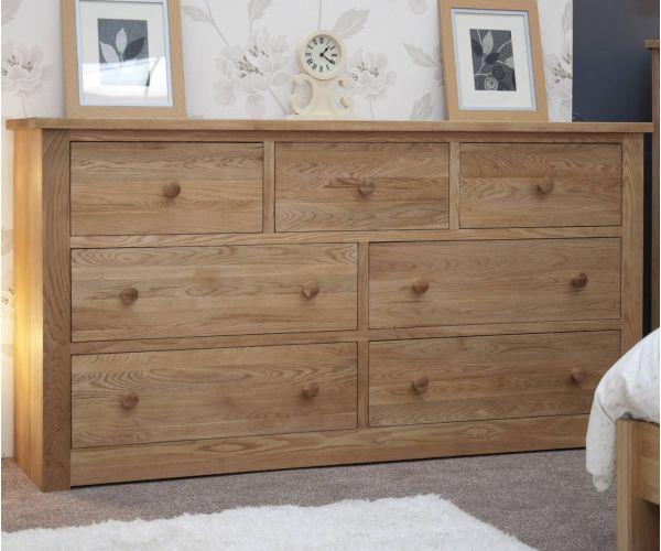 Homestyle GB Torino Oak Wide 7 Drawer Chest