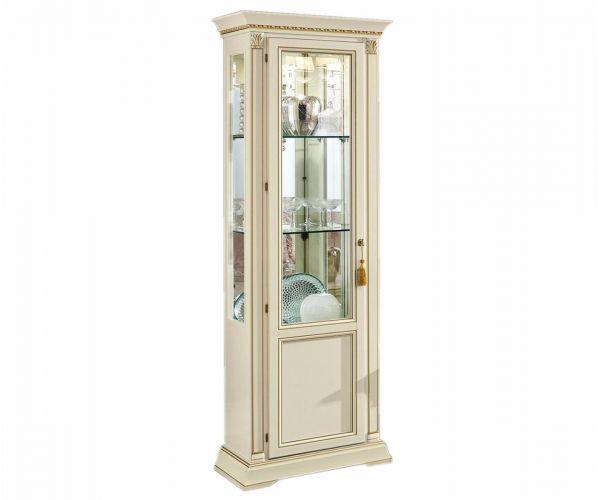 Camel Group Treviso White Ash Finish 1 Door Display Cabinet