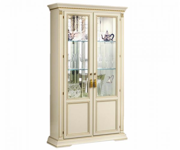 Camel Group Treviso White Ash Finish 2 Door Display Cabinet