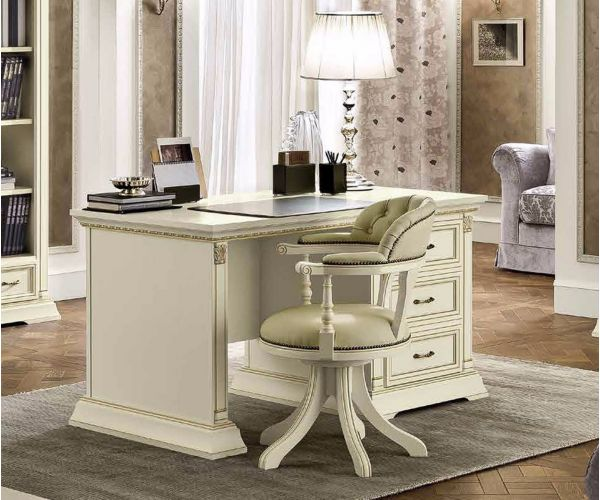 Camel Group Treviso White Ash Finish Writing Desk