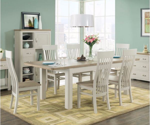 Annaghmore Treviso Painted Large Extending Dining Set