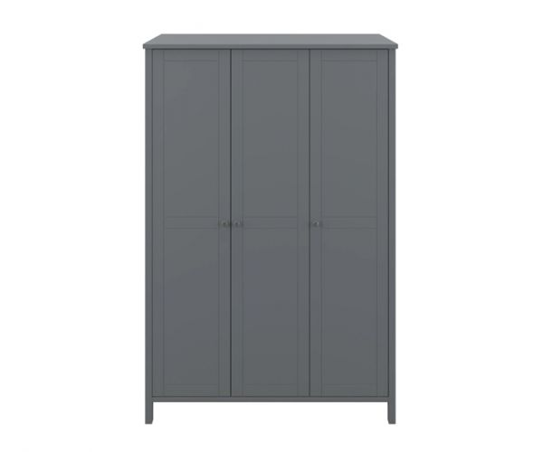 Steens Tromso Grey 3 Door Wardrobe