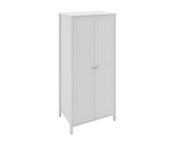 Steens Tromso White 2 Door Wardrobe