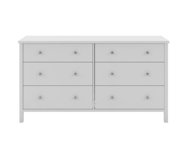 Steens Tromso White 3+3 Wide Drawer Chest