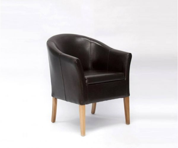Homestyle GB Brown Bycast Tub Leather Chair