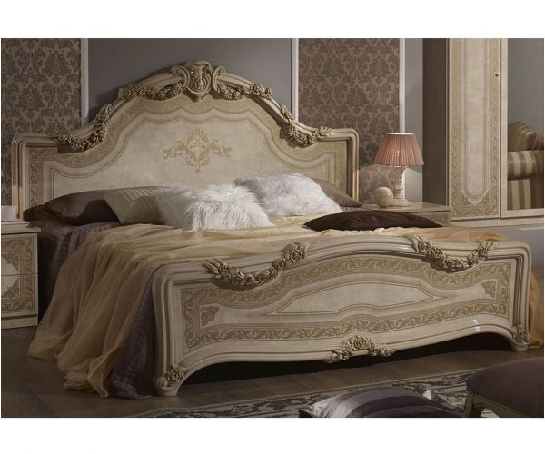 Tuttomobili Elena Beige Finish Bed Frame