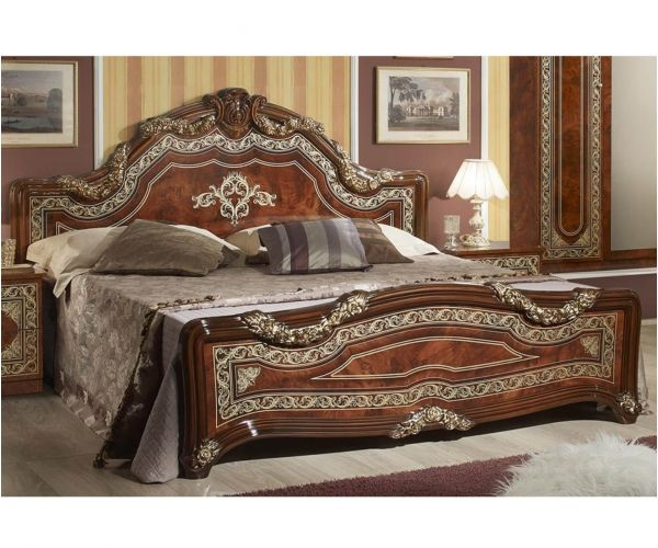 Tuttomobili Elena Walnut Finish Bed Frame