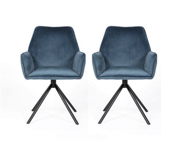 Furniture Line Uno Blue Dining Chair in Pair