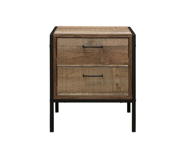 Birlea Furniture Urban Rustic 2 Drawer Bedside Cabinet