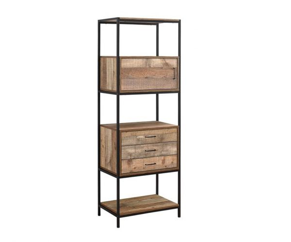 Birlea Furniture Urban Rustic 3 Drawer Shelving Unit