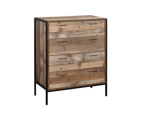 Birlea Furniture Urban Rustic 4 Drawer Chest