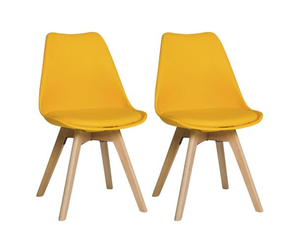 Furniture Line Urban Yellow Dining Chairs (Set of 4)