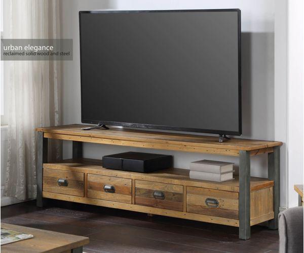 Baumhaus Urban Elegance Reclaimed Extra Large Widescreen TV Unit