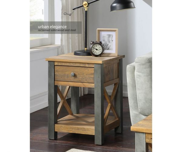 Baumhaus Urban Elegance Reclaimed Lamp Table with Drawer