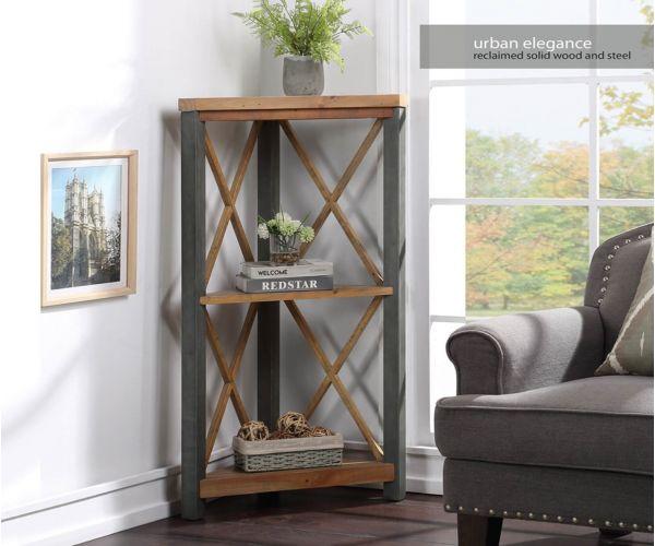 Baumhaus Urban Elegance Reclaimed Small Corner Bookcase