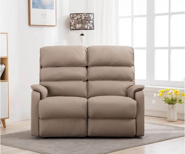GFA Valencia Pebble Plush Electric Recliner 2 Seater Sofa