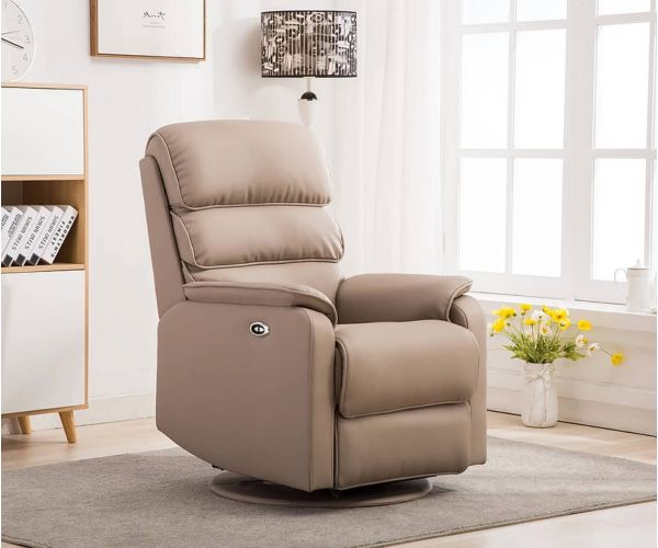 GFA Valencia Pebble Plush Electric Swivel Recliner Chair