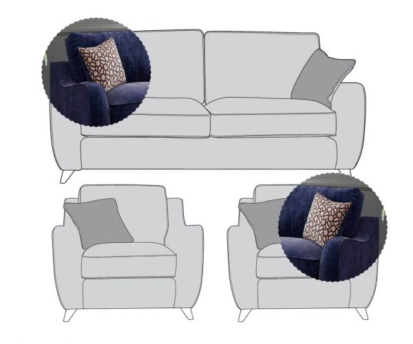 Buoyant Upholstery Varley 3+1+1 Sofa Suite
