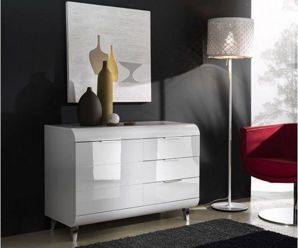 Derrys Furniture Vega White High Gloss Small Sideboard