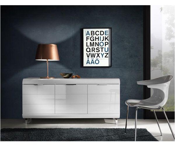 Derrys Furniture Vega White High Gloss Sideboard