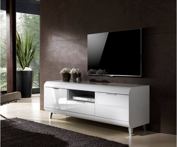 Derrys Furniture Vega White High Gloss TV Unit