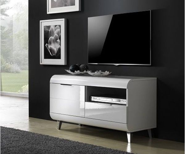 Derrys Furniture Vega White High Gloss Small TV Unit