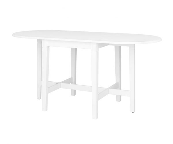 Steens Venice White Gateleg Extending Dining Table Only