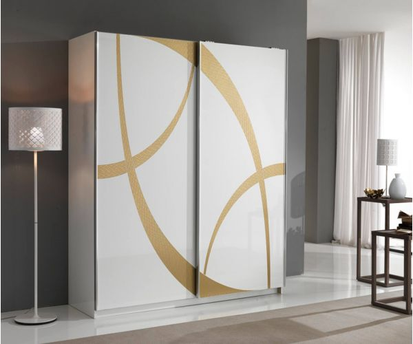 MCS Venice White Finish 2 Door Sliding Wardrobe