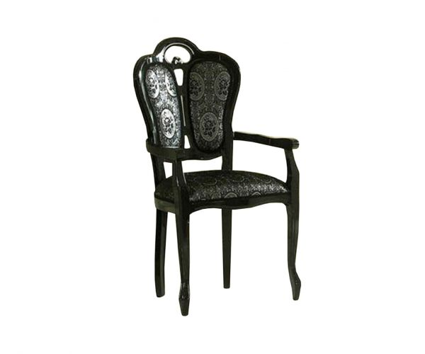 Ben Company New Venus Black Italian Giglio Dining Armchair