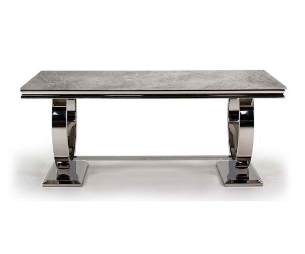 Vida Living Arianna Grey 180cm Dining Table only