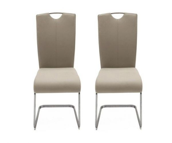 Vida Living Lazzaro Taupe Dining Chair in Pair