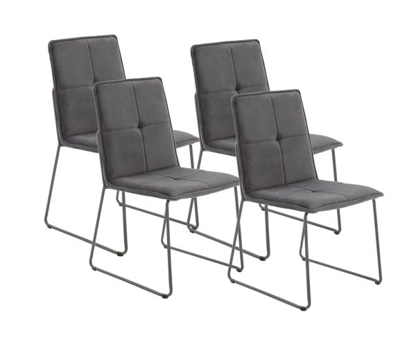 Vida Living Soren Grey Dining Chair (Set of 4)