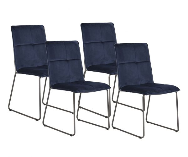 Vida Living Soren Blue Dining Chair (Set of 4)