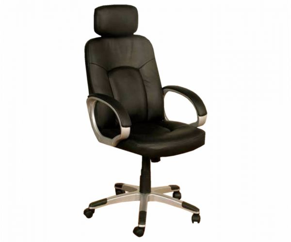 Annaghmore Viking Black Faux Leather Office Chair