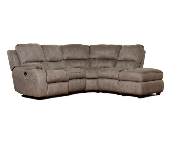 GFA Virginia Pecan Fabric Left Hand Facing Corner Recliner Sofa