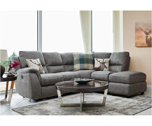 GFA Virginia Rhino Fabric Left Hand Facing Corner Recliner Sofa