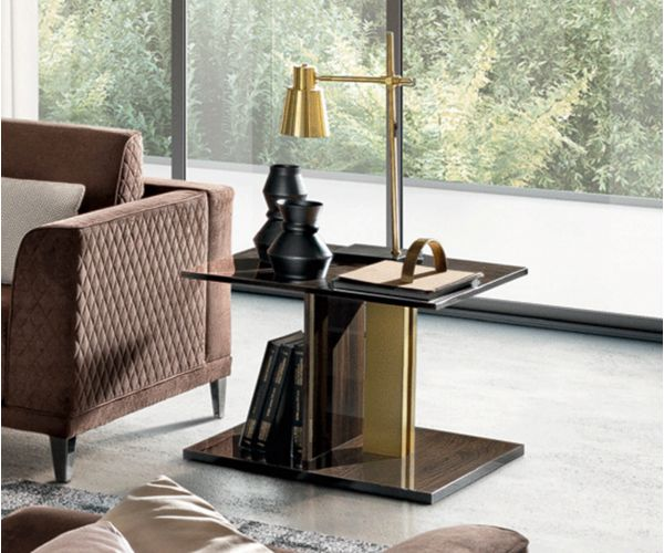Camel Group Volare Walnut Lamp Table