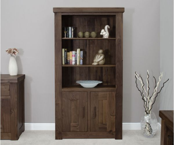 Homestyle GB Walnut 2 Door Bookcase