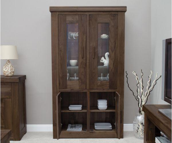 Homestyle GB Walnut Glass Display Cabinet