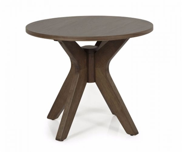 Serene Furnishings Waltham Walnut Round Lamp Table