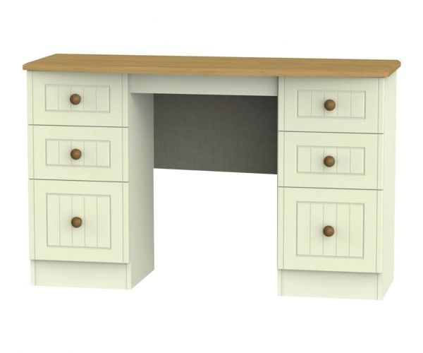 Welcome Furniture Warwick 6 Drawer Kneehole Unit