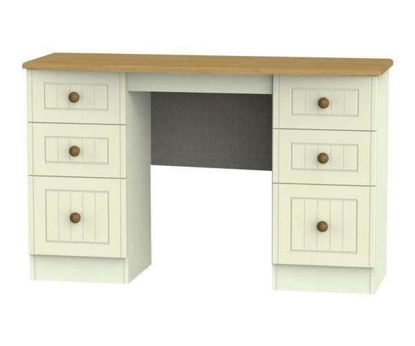 Welcome Furniture Warwick 6 Drawer Kneehole Unit