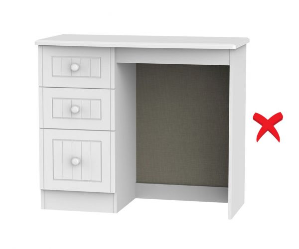Welcome Furniture Warwick 3 Drawer Vanity Unit