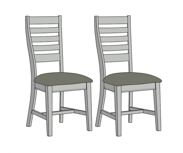 Mark Webster Waterford Ladder Back Dining Chair in Pair